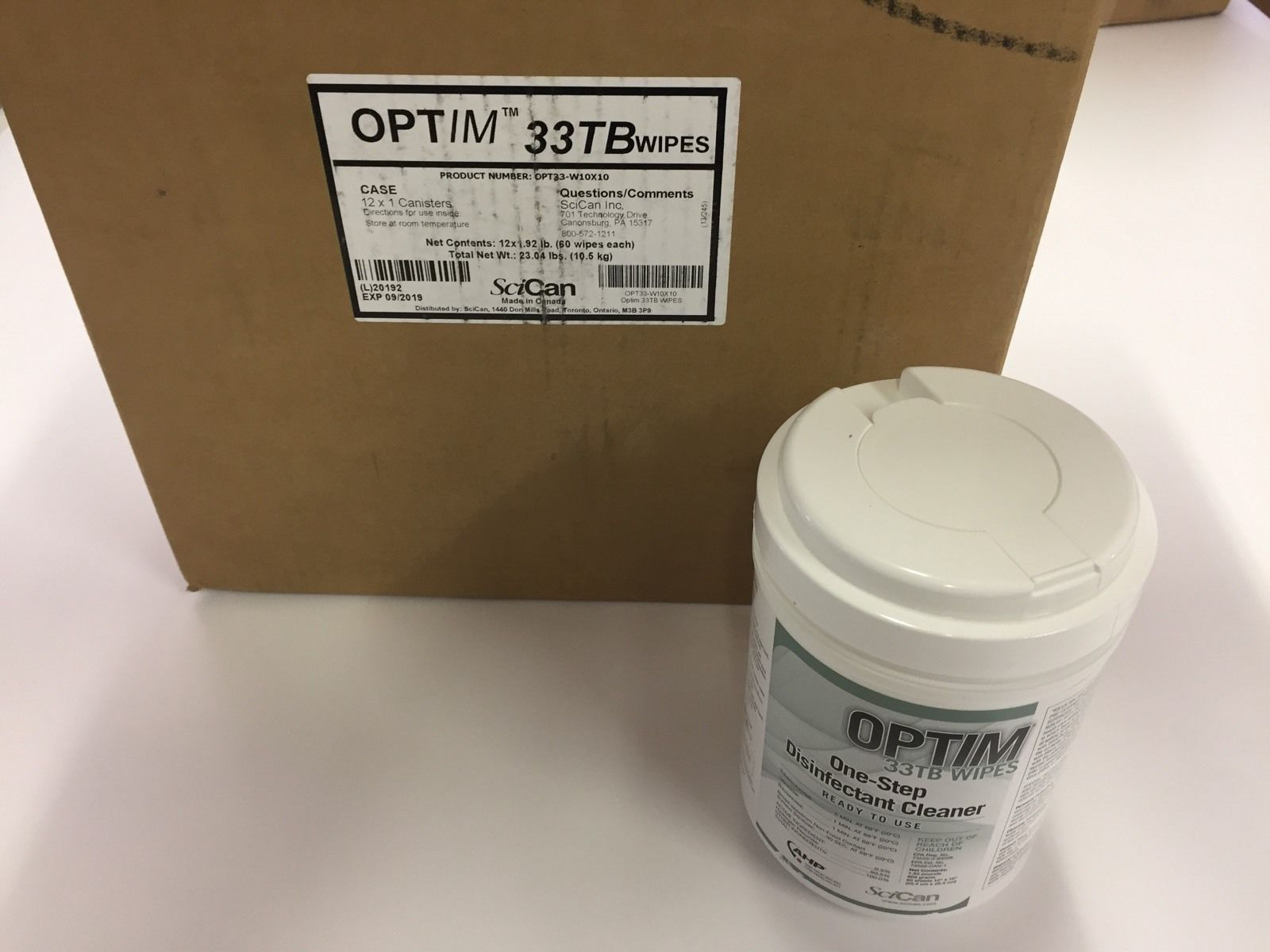 Optim one-step disinfectant cleaner